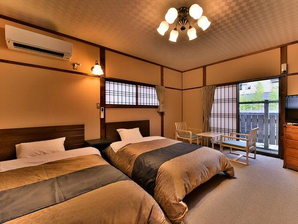 「温泉露天メゾネット」のお部屋(美松亭)の一例。2階建の2階部分です