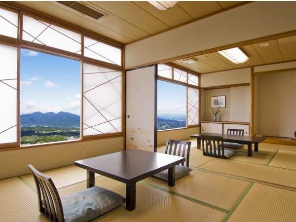 【上州の山々が一望できる眺望和室2間続き】バス・トイレ付