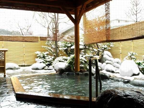 【純和風温泉露天風呂】雪景色の中、ごゆっくりどうぞ。(男女入替制)