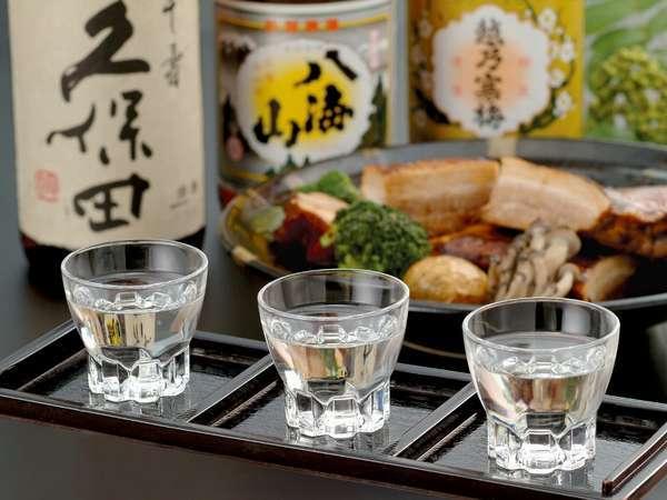 【新潟地酒】新潟の銘酒を各種取り揃えております。ぜひお料理と共にお楽しみください。