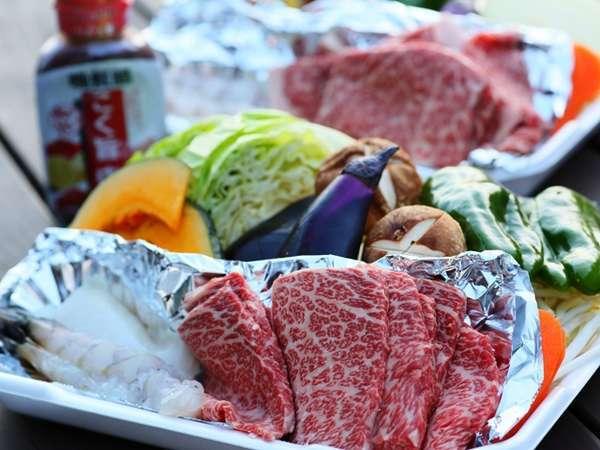 BBQプランの食材の一例