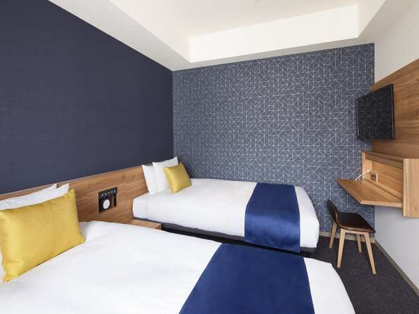 <客室>スーペリアツイン(20平米・ベッド幅110㎝)