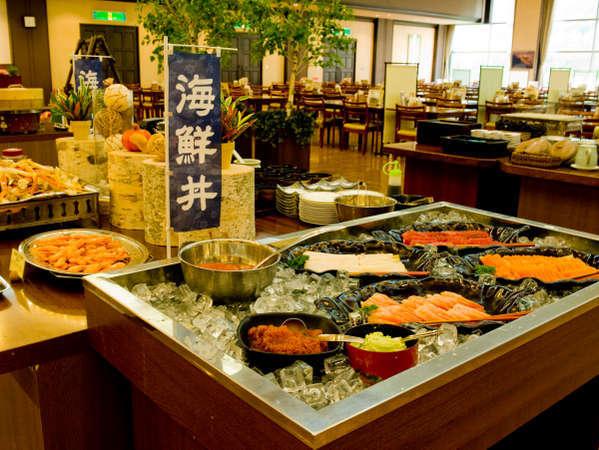 【夕食バイキング】海鮮丼コーナー