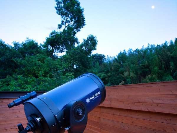 【星空観察会】お天気が良い日は毎日行っております。星や木星、土星などを見ることができます