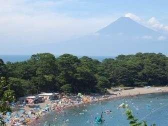 【美浜海水浴場】富士山を望む絶景海水浴場まで車で5分♪