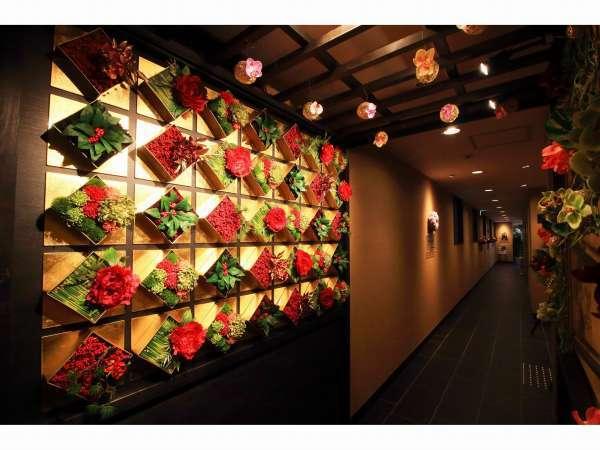 花回廊。旅の想い出作りに、記念撮影はいかが?