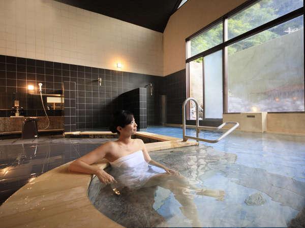 入浴後はお肌がツルツルしっとりと…当館自慢の美人の湯を心ゆくまで…
