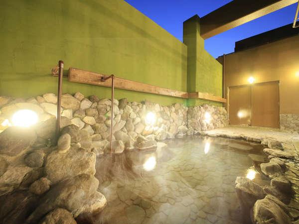 別府八湯の一つ亀川温泉の自家源泉(ナトリウム-塩化物・硫酸塩泉)。お肌がツルツルしっとりと……