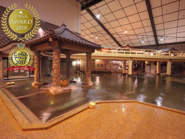 【元禄風呂】日本の歴史を再現した大浴場