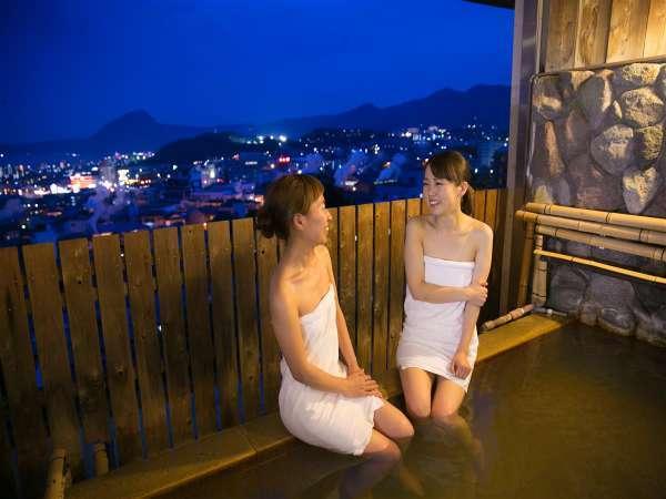 ~展望風呂から眺める夜景