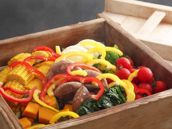 旬食材を使った蒸し野菜