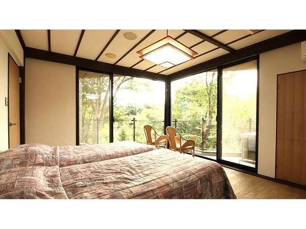 ベッドルームからのお部屋の眺め