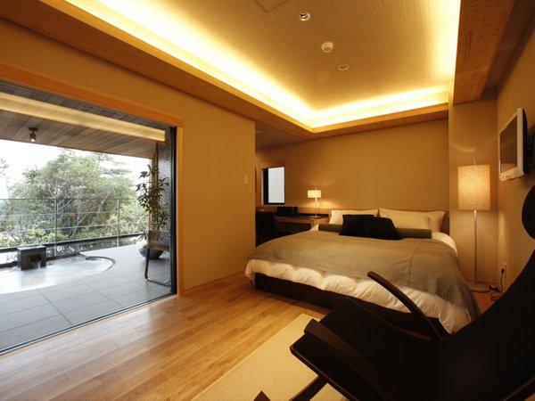 「月の冠」別邸Vajraスイート|2階建てのメゾネットタイプ 2階 寝室