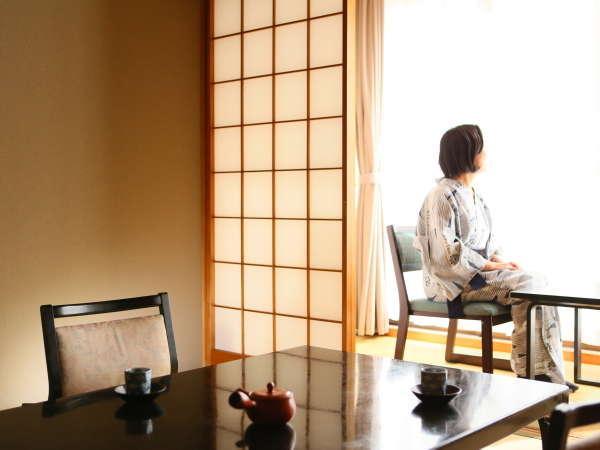 源泉かけ流しの『美白の湯』を愉しんで。お部屋でどうぞごゆっくり。
