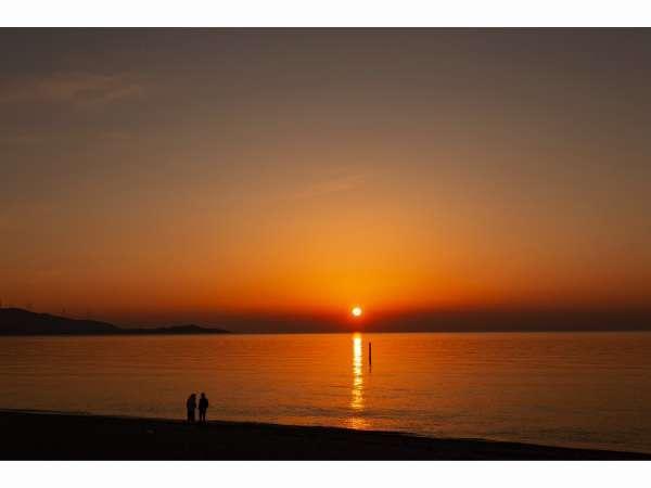 慶野松原海岸の夕陽
