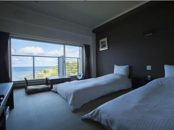波音や風の音と過ごす客室/客室は4つのタイプがあります