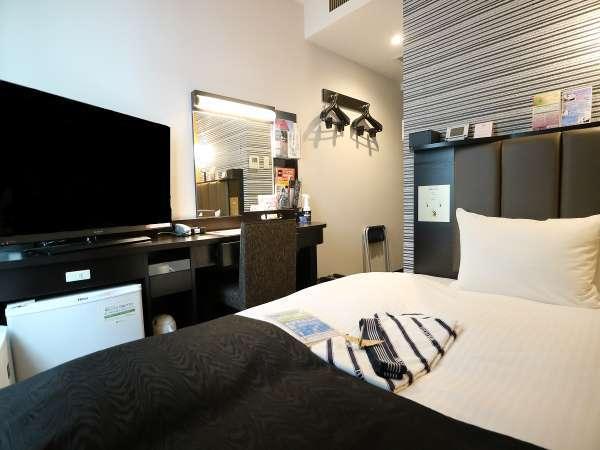 ◇シングルルーム◇全客室に空気清浄機、大型テレビ、Wi-Fi、エアコン完備。