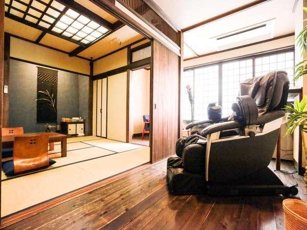 特別室(一例)広々としたお部屋にマッサージチェア等をご用意。