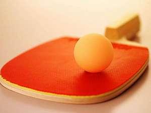 【卓球コーナー】*温泉宿はやっぱり卓球