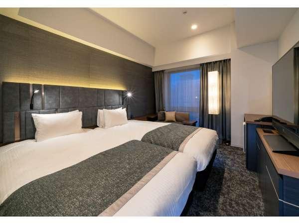 【スタンダードツイン】23㎡/110cm幅ベッド2台。羽田や成田へ直通。初めての東京旅行も安心。
