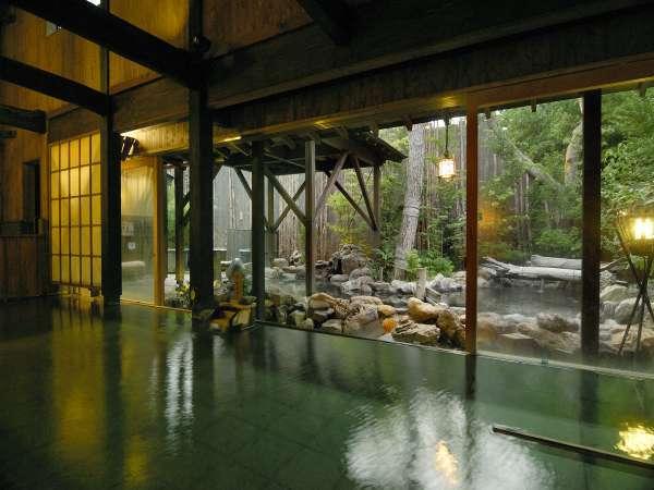 【大浴場:内湯】広々ゆったりのんびり温泉を堪能♪