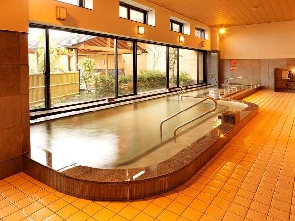 【大江戸温泉物語・大浴場】白湯とジェットバスがあります。