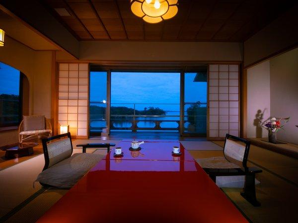 開放感あふれる松島湾を望む14帖1間和室