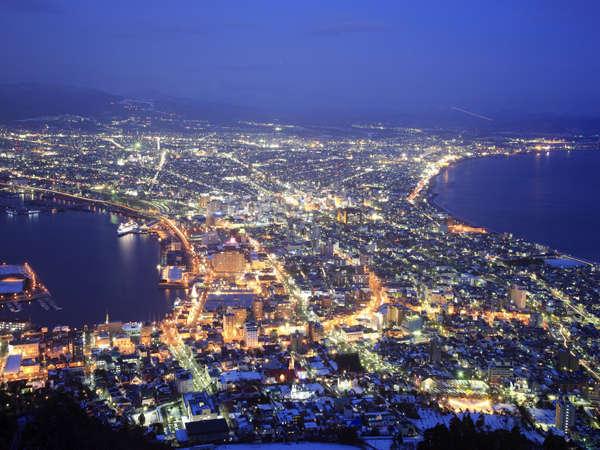 【景観】世界三大夜景の一つ。函館山からの夜景を是非お楽しみ下さい♪