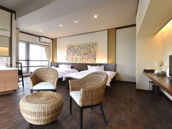 ヴィラ・コーナー・スイートルーム(イメージ)露天風呂付客室で普段より贅沢な滞在を。