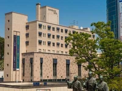 水戸駅北口から見える三の丸ホテル(水戸駅より徒歩2分)
