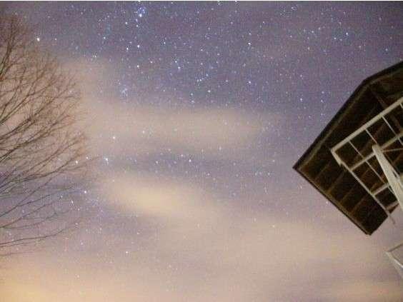 ホテル前の畑の駅からの星空