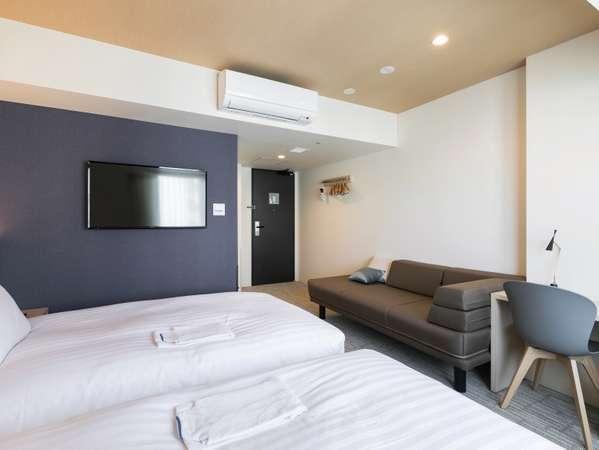 モデレートツイン【JAPANESE】定員:大人2-3名 部屋面積:22.0㎡ベッドサイズ:120 x 203cm x 2台