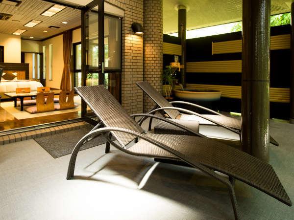 天然温泉露天風呂をお楽しみ頂ける客室をご用意しました