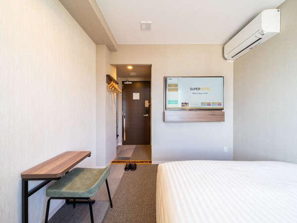 【スタンダードルーム】ダブルサイズベッドで眠りを追及し適度な硬さのマットでぐっすり♪※イメージ