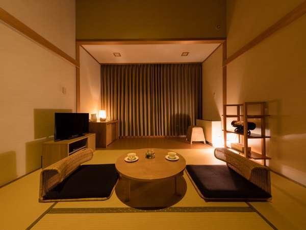 【和スタイル】畳の寛ぎと開放的なテラスを備えた和洋室