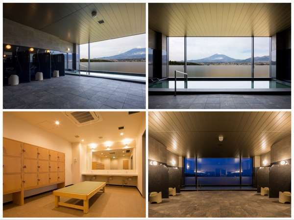 男女別の大浴場(天然温泉使用)の様子。ここからも富士山が一望できます