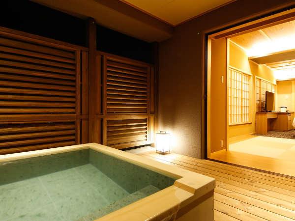 【特別フロア 湯楼】専有露天風呂テラス付和洋室B(一例)