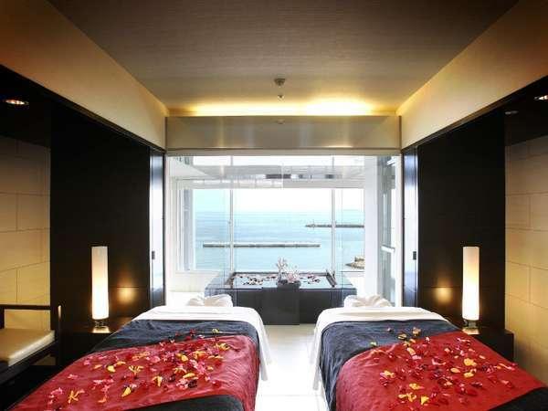 ホテル8Fサナシオンスパの施術室一例。予約状況によりお二人での施術も可能です。