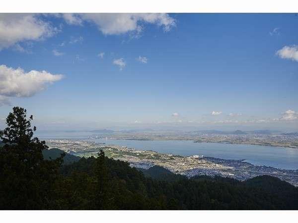 レストランから琵琶湖の眺望