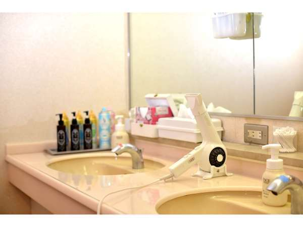 清潔な洗面スペース