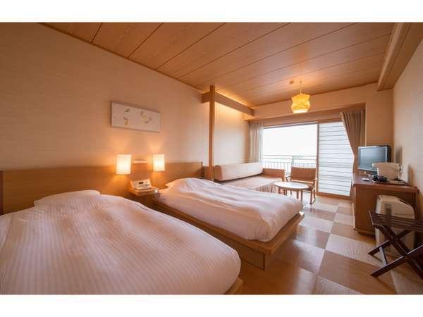 【ホテル ナガシマ】和のイメージを基調とした洋室。ゆとりと癒しがメインテーマ