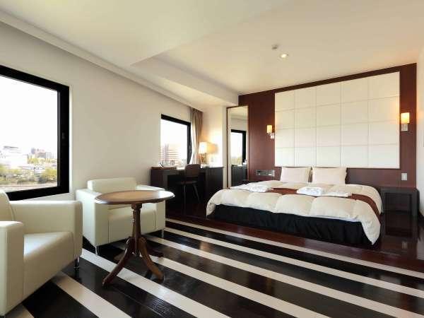 ◆デラックスダブルルーム◆デザイナーズインテリアで統一されたお部屋です。