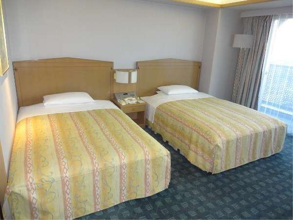 ツインA(セミダブルサイズのベッドとなります)全室バルコニー付