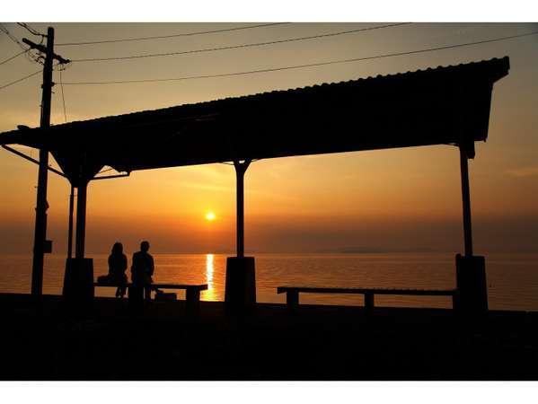 「秘境! 下灘駅」は、当ホテルが一番近いホテル!日本一美しい夕日が見える人気のスポット♪