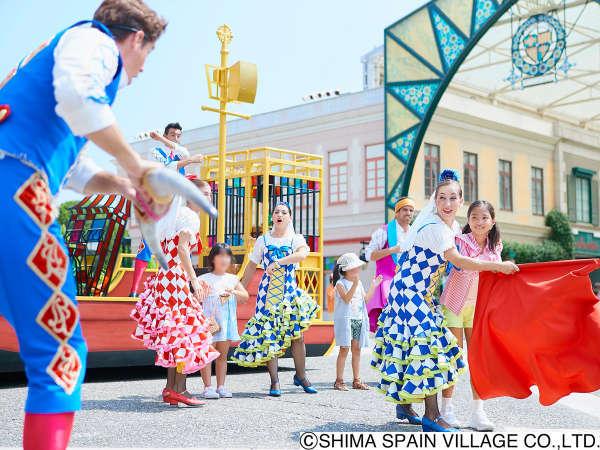 【志摩スペイン村イメージ】陽気なダンサーが繰り広げるお客様参加型のエンターテイメントショーが魅力!