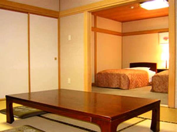 *和室+洋室ツインの広々和洋室!