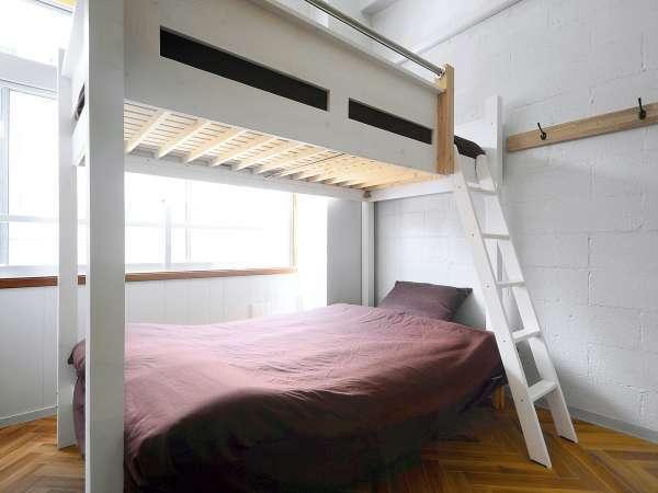 【3F広々とした2段ベッド】