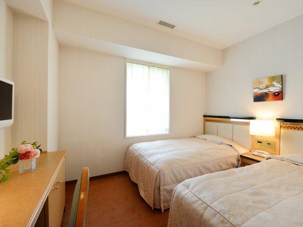 ハーバーツインルーム【18.3平米】1,100mmのシモンズ製の正ベッドを2台ご用意