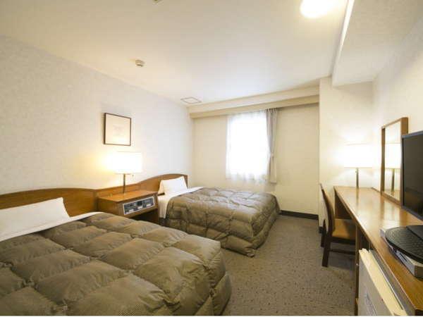 18平米、横幅110cmのツインルームでゆったりと快適に♪休日の観光にぜひどうぞ!