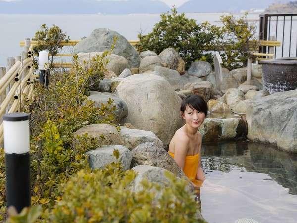 爽天の湯 岩風呂